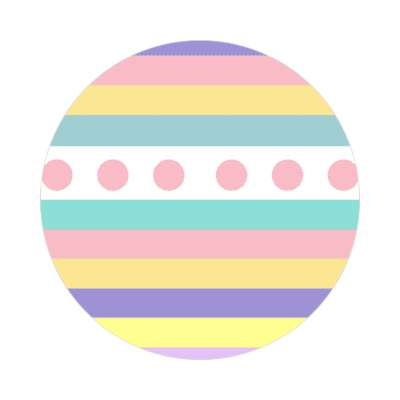 easter egg design lines dots 1 sticker
