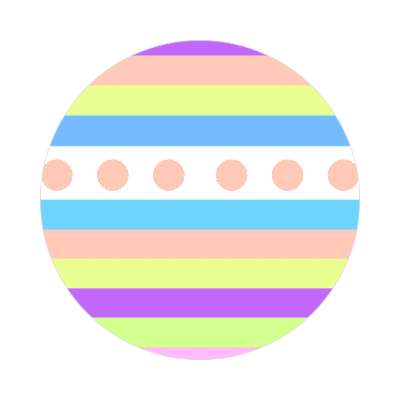 easter egg design lines dots 2 sticker