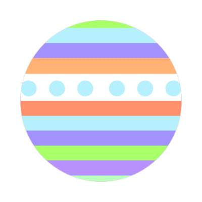 easter egg design lines dots 3 sticker