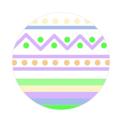 easter egg design zig zag dots variation 2 white sticker
