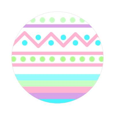 easter egg design zig zag dots variation 3 white sticker