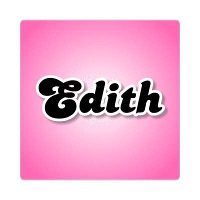 edith female name pink sticker