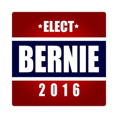 elect bernie 2016 deep red dark blue sticker