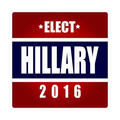 elect hillary 2016 deep red dark blue sticker