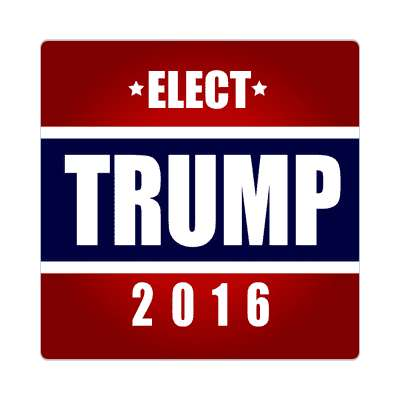 elect trump 2016 deep red dark blue sticker