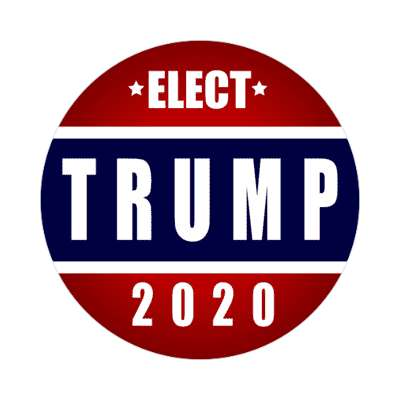 elect trump 2020 sticker