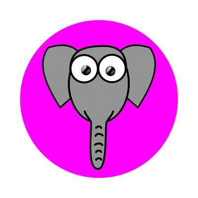 elephant cartoon cute animal sticker