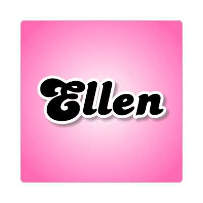 ellen female name pink sticker