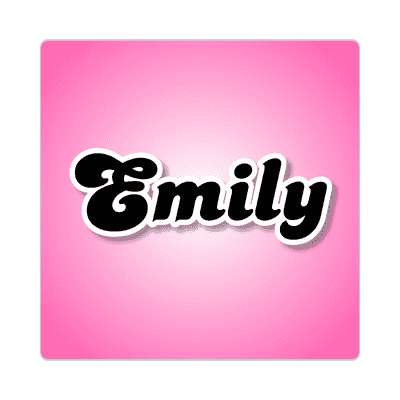 emily female name pink sticker