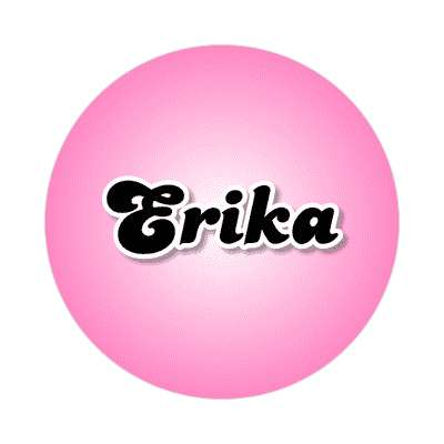 erika female name pink sticker