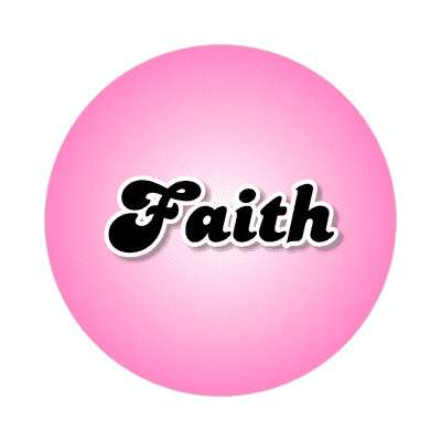 faith female name pink sticker