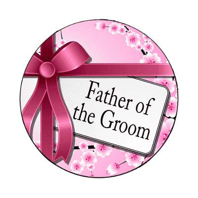 father of the groom pink ribbon card magnet