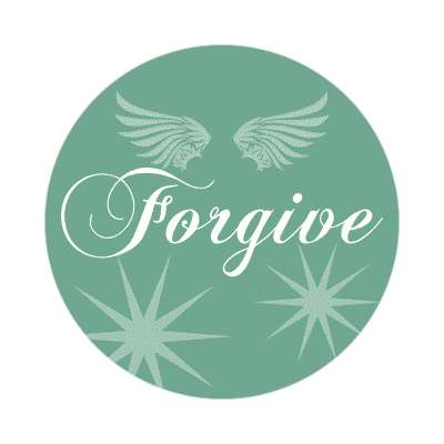 forgive wings silhouette sticker