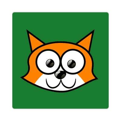 fox cartoon cute animal sticker