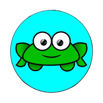 frog cartoon cute animal magnet