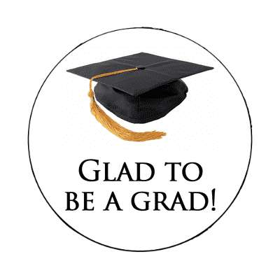 glad to be a grad cap graduation magnet
