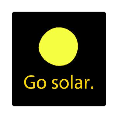 go solar outer space sun sticker