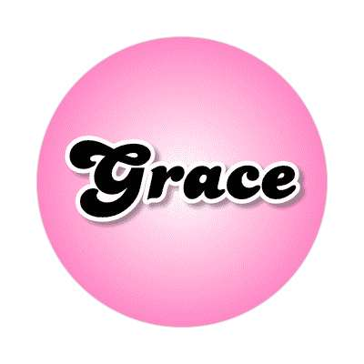 grace female name pink sticker