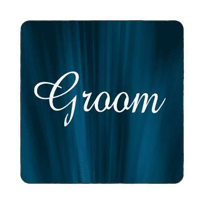 groom curtain dark blue magnet