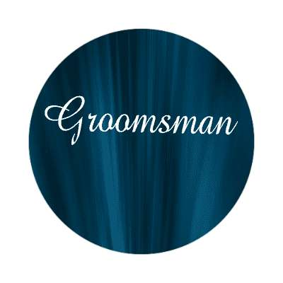 groomsman curtain dark blue sticker