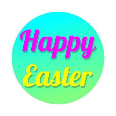 happy easter aqua green sticker