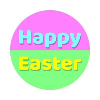 happy easter green magenta sticker