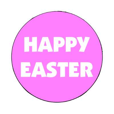 happy easter magenta classic magnet