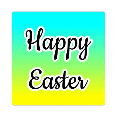happy easter mint yellow sticker