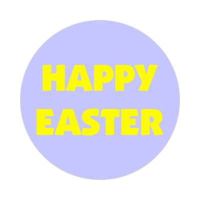 happy easter pastel blue sticker