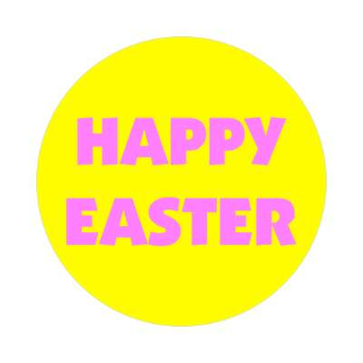 happy easter pastel yellow pink sticker
