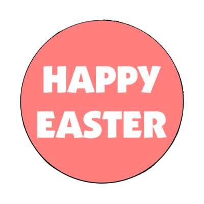 happy easter pink white classic magnet