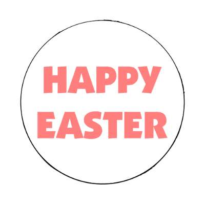 happy easter white classic magnet