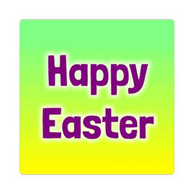 happy easter yellow green sticker