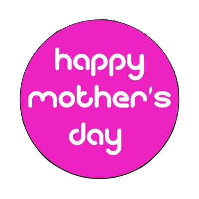 happy mothers day magenta modern magnet