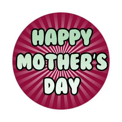 happy mothers day plum rays sticker