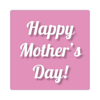 happy mothers day purple cursive sticker