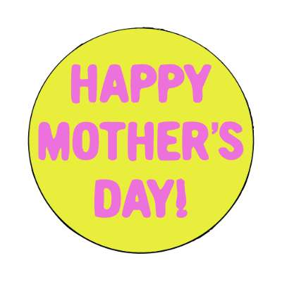 happy mothers day yellow bold magnet