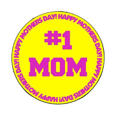 happy mothers day yellow border happy mothers day magnet