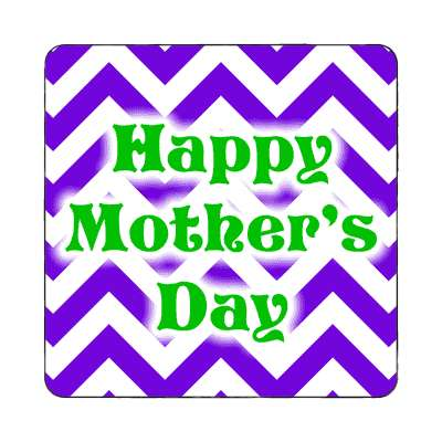 happy mothers day zig zag purple magnet