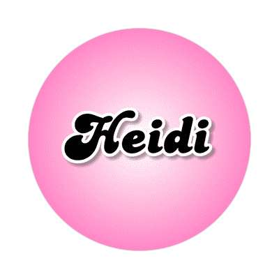 heidi female name pink sticker