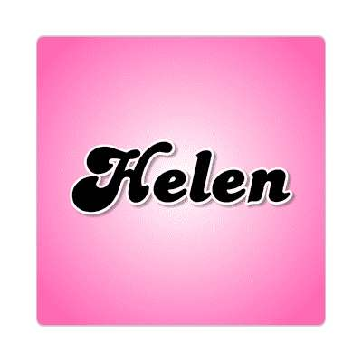 helen female name pink sticker