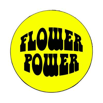 hippy yellow flower power magnet
