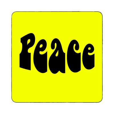 hippy yellow peace magnet