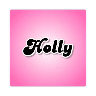 holly female name pink sticker