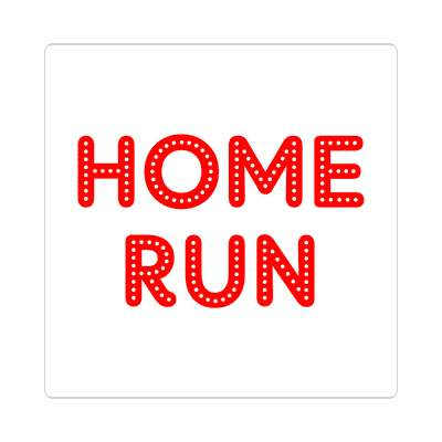 home run sticker