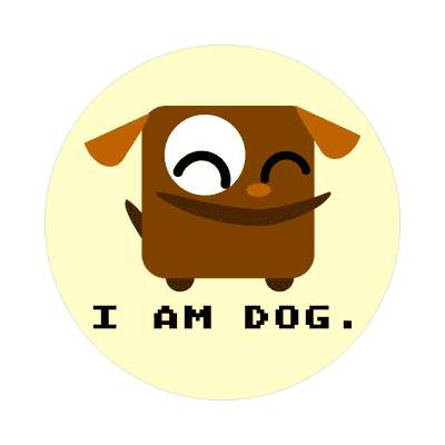 i am dog cartoon cute animal sticker