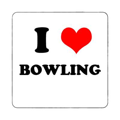 i heart bowling red heart magnet