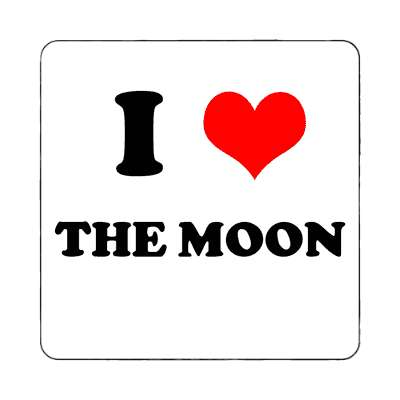 i heart the moon red heart magnet