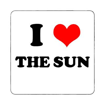i heart the sun red heart magnet