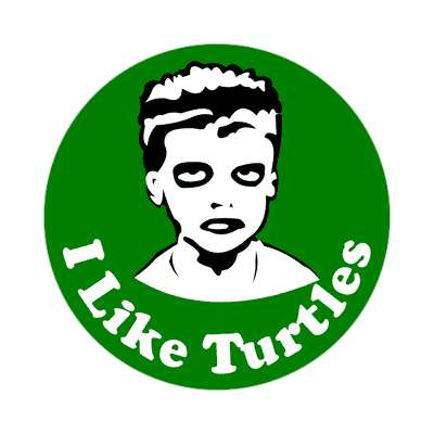 i like turtles kid meme sticker